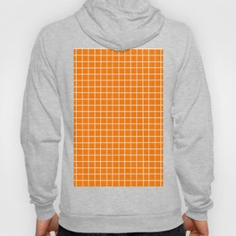 Orange with White Grid Hoody
