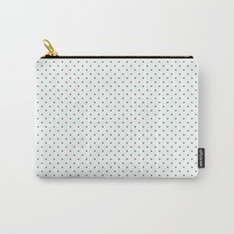 Small Elf Green on White Polka Dots Carry-All Pouch
