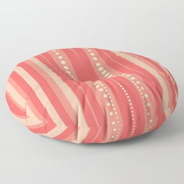 Coral and Cream Summer Pattern | Nadia Bonello Floor Pillow