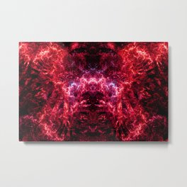 Electrocution Throne IV (Burning) Metal Print