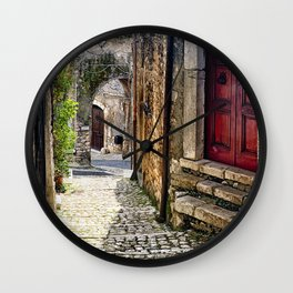 Street in Sermoneta Wall Clock