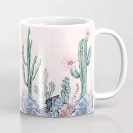 Desert Gemstone Oasis Light Pink Coffee Mug
