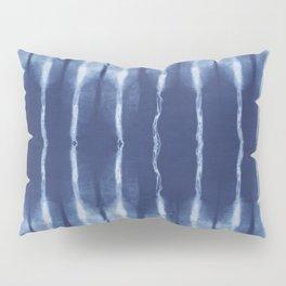 Blue shibori scratched Pillow Sham