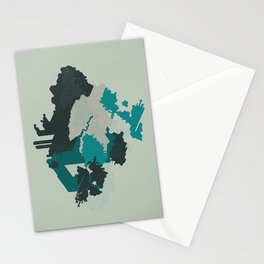 Geometric Mapping #4 • by Secret Peak Stationery Cards