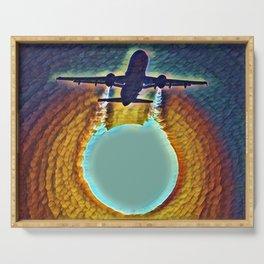 Aircraft Sun Pass In Slumber Serving Tray