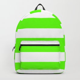 Green slime - solid color - white stripes pattern Backpack