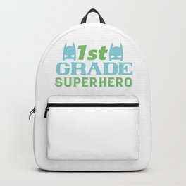 1St Grade Superhero - Funny School humor - Cute typography - Lovely kid quotes illustration Backpack