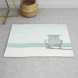 Lifeguard Beach Hut Rug