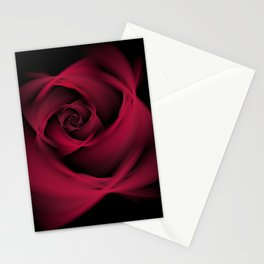 Abstract Rose Burgundy Passion Stationery Cards