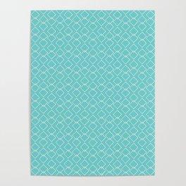 Sand geometric-aqua  Poster