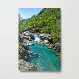 Valle Verzasca, Lavertezzo, Locarno, Canton of Ticino, Switzerland photograph Metal Print