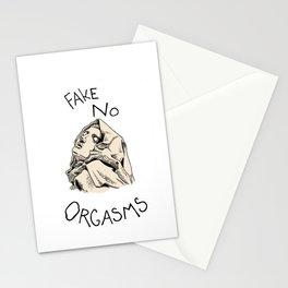 Fake No Orgasms Stationery Cards