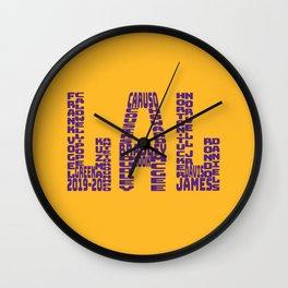 Los Angeles - LAL - 2019 - 2020 Wall Clock