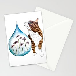 The Cat and The Garden Stationery Cards