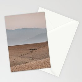 Sunset at the desert Stationery Cards