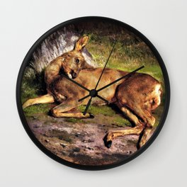 Rosa Bonheur - A Roe Deer In The Forest - Digital Remastered Edition Wall Clock