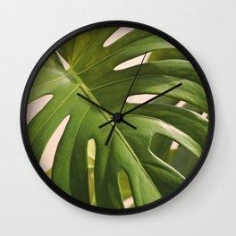 Verdure #1 Modern Art Print Wall Clock