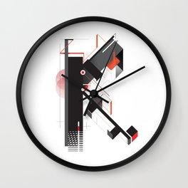 Abstract K Wall Clock