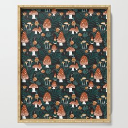 Mushroom Forest Gnomes Serving Tray