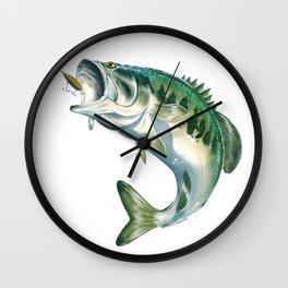 Largemouth Bass #1 Wall Clock