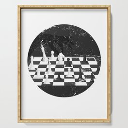 Chess Board Serving Tray