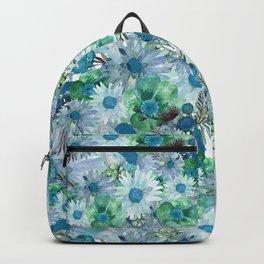 Blue Garden Watercolor Garden Backpack