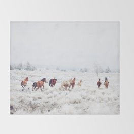 Winter Horses Decke