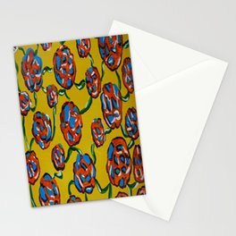 Rainbow flowers yellow Stationery Cards