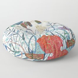 nature【Japanese painting】 Floor Pillow