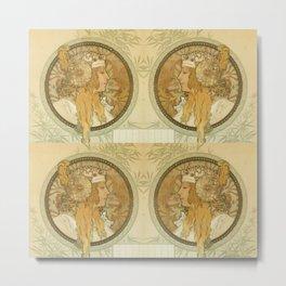 "Alphonse Mucha ""Byzantine Head: The Blonde"" Metal Print"