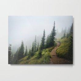 Misty Mountain Trail Metal Print