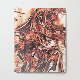 Abstract Carnage Metal Print