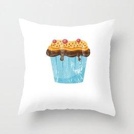 Funny Stud Muffin Brick Mason Husband print Throw Pillow