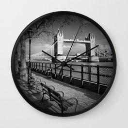 LONDON Thames Riverside & Tower Bridge Wall Clock