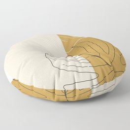 Monstera Abstract Floor Pillow