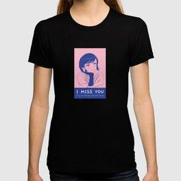 """Anime Girl full of longing """"I miss you"""" T-shirt"""