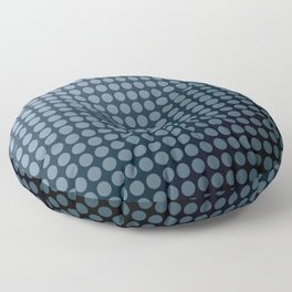 Black and blue polka dot pattern . Floor Pillow