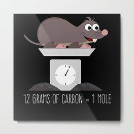 Mole Nerd Saying - A Mole Joke Metal Print
