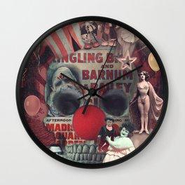 Circus skull Wall Clock