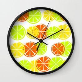 Bright Citruses Wall Clock
