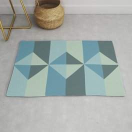 Cast Light in Blue and Green Rug