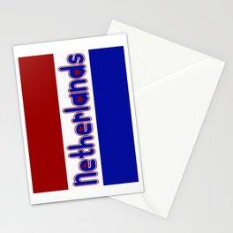 Netherlands Flag with Dutch Font Stationery Cards