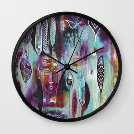 """Muse Dance"" Original Painting by Flora Bowley Wall Clock"