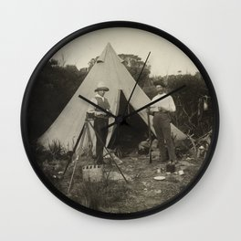 Archibald James Campbell - Camp View, Field Naturalists ' Club Expedition to King Island (1888) Wall Clock