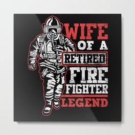Firefighters Legend Metal Print