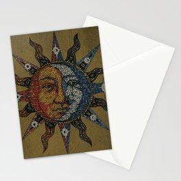 Vintage Celestial Mosaic Sun & Moon Stationery Cards