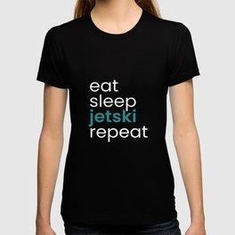 Eat Sleep Jetski Repeat T-shirt