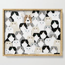 Cats and Dog Serving Tray