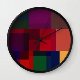 Jewel tones abstract geometric I Wall Clock