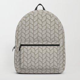 Minimalist Leaves in Gray Backpack